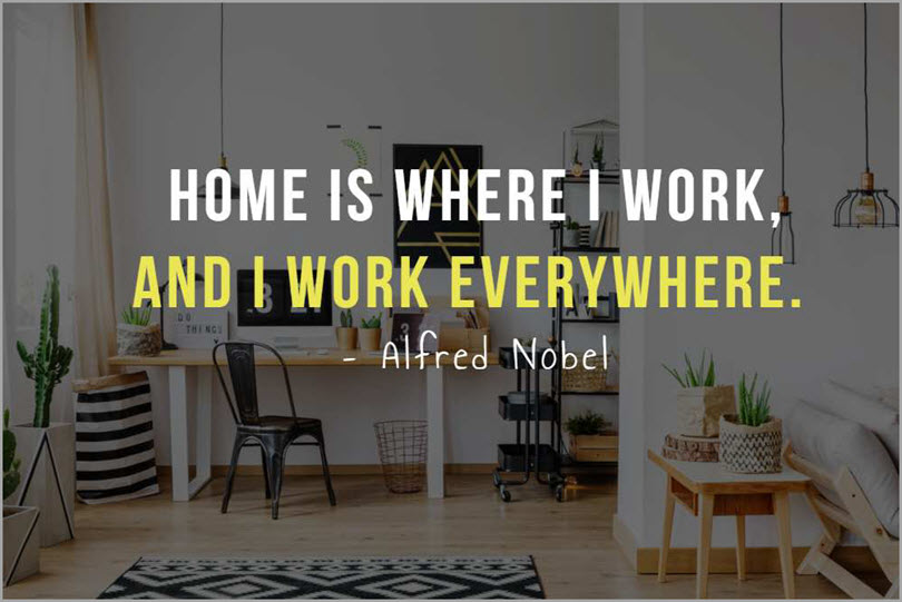 Re-design or Invent an office space at home for working from home