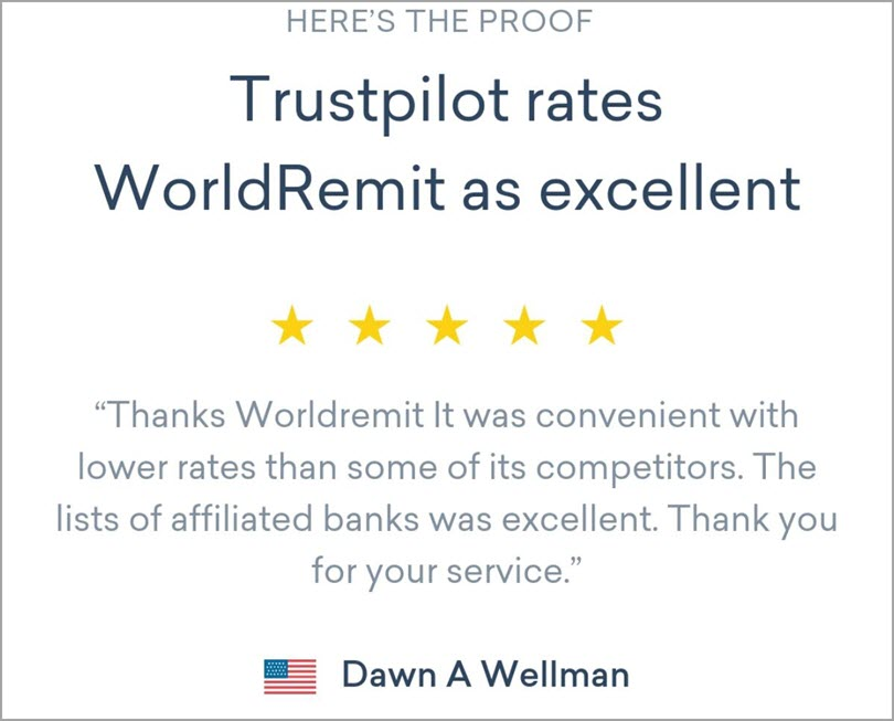 Use them on your Homepage like World Remit for customer reviews in your content