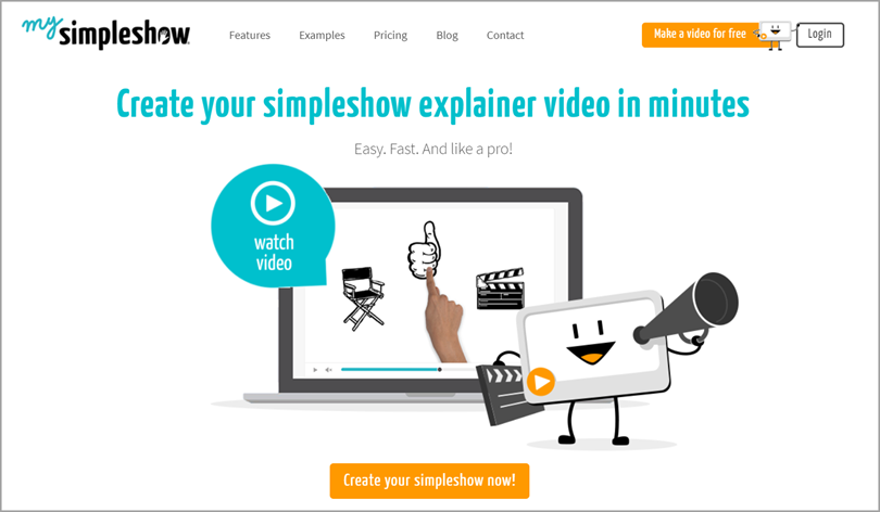 mysimpleshow Video Creation Tool for business resources