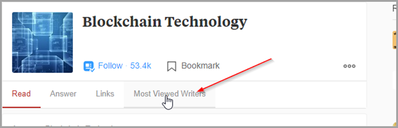 Bloackchain Technology Most Viewed writers for quora