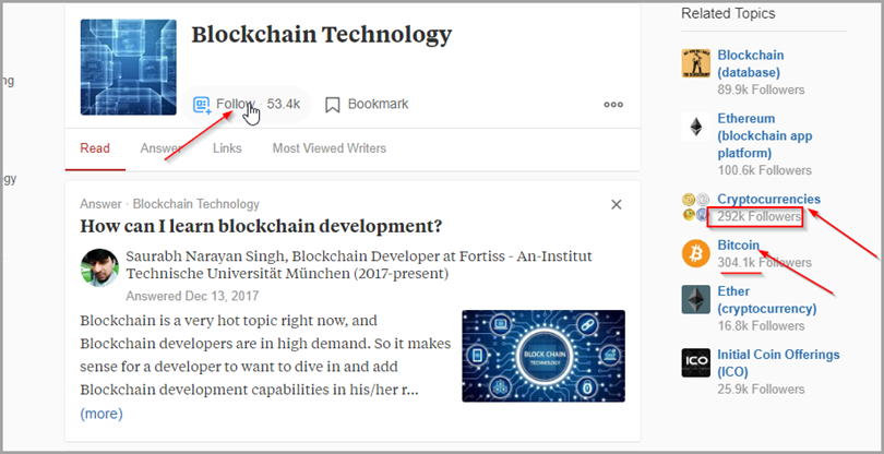 Blockchain Technology development for quora