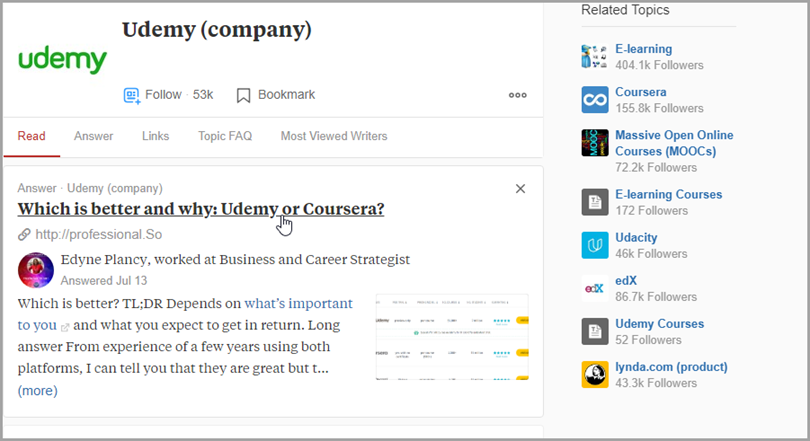 udemy (company) for quora