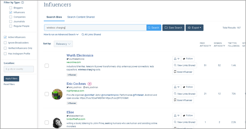buzzsumo for target influencers