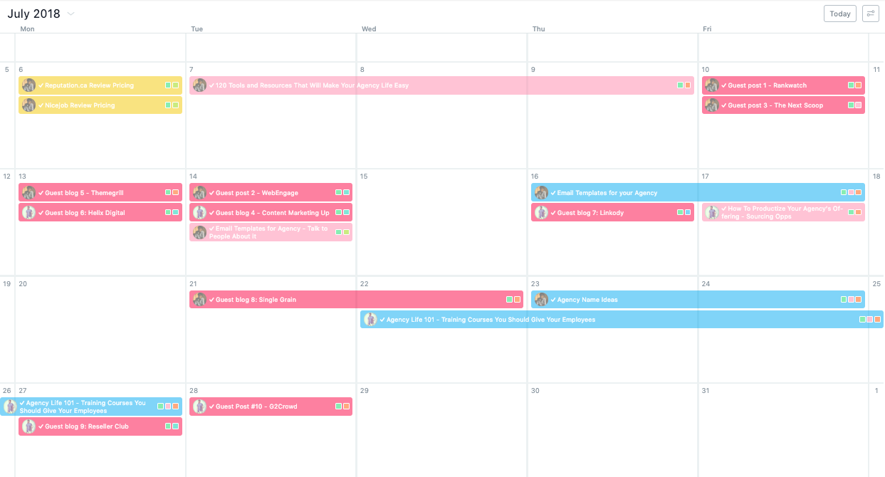 Maintaining an Editorial Calendar for guest posting strategy