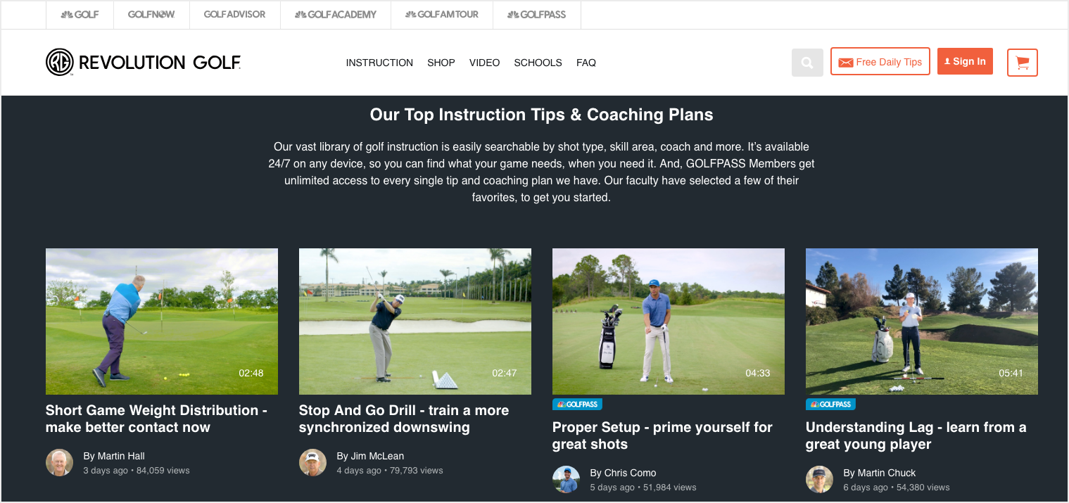 Membership like Revolution Golf for Online Business