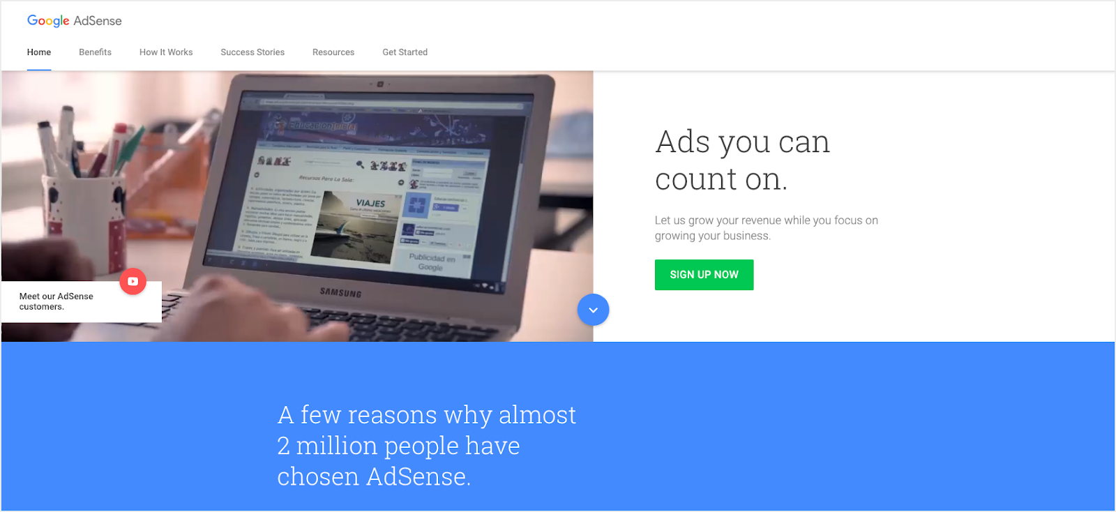 On-site Advertising like Google Adsense for Online Business