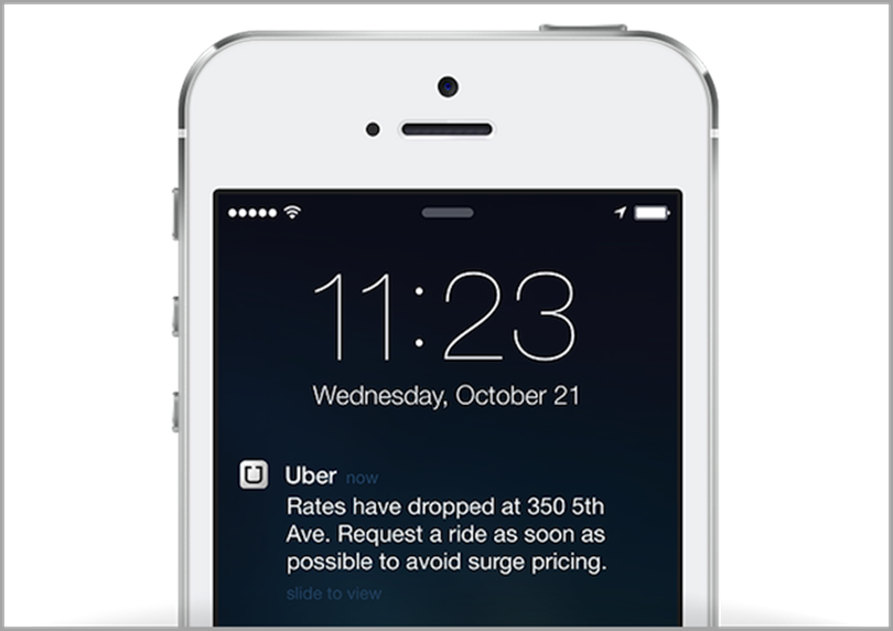 Uber for push notification marketing