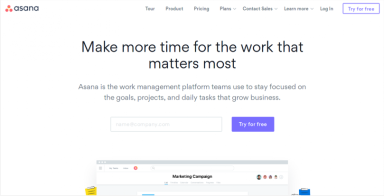 Use Asana to manage your team's work projects tasks online · Asana