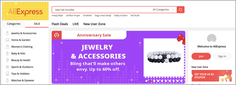AliExpress Drop Ship Products for eCommerce tools