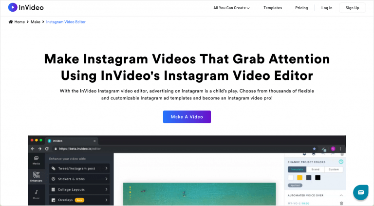 Best Instagram tools - InVideo