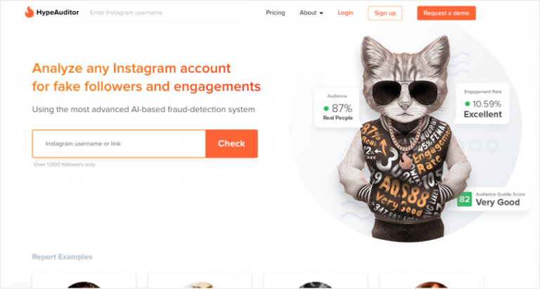 Instagram tools - HypeAuditor