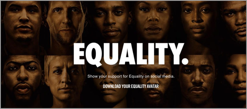 Equality for brand messaging