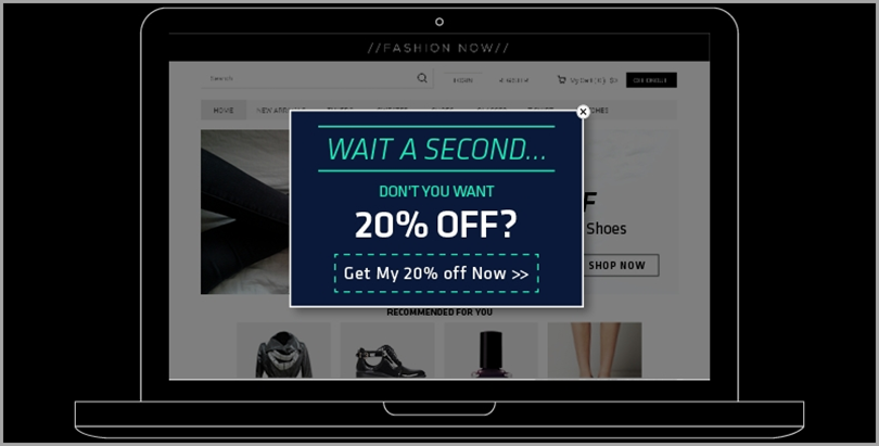 Offer a discount for ecommerce bounce rates