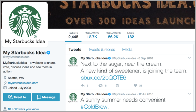 Starbucks for social media techniques