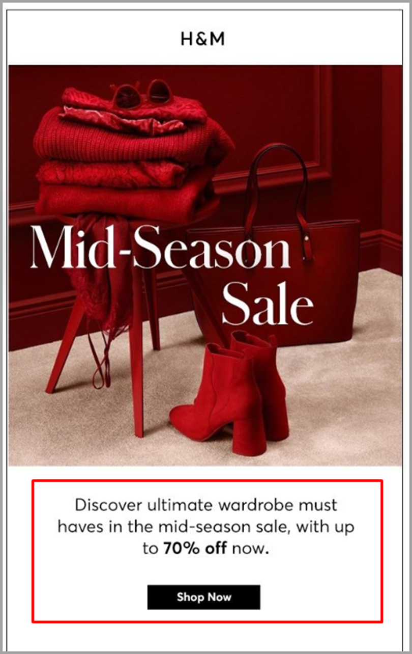 Announce a Mid-season deal for email newsletter ideas