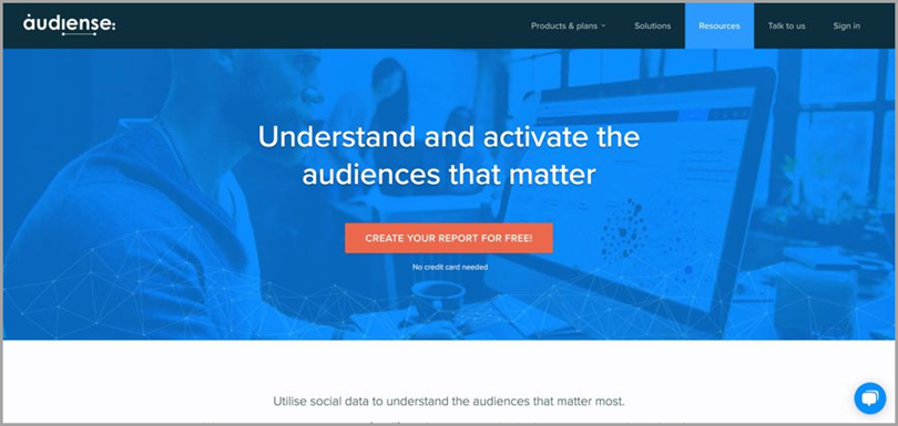 Audiense for social media analytics tools