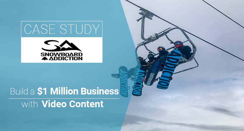 Case Study Snowboard addiction for content marketing studies