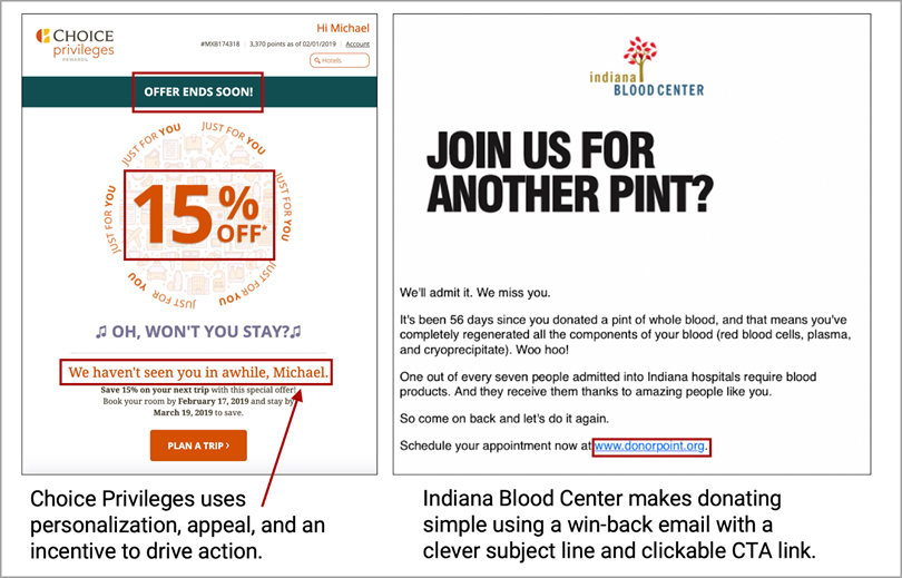 Choice Privileges uses personalization-appeal-and an incentive to drive action for eCommerce Marketing