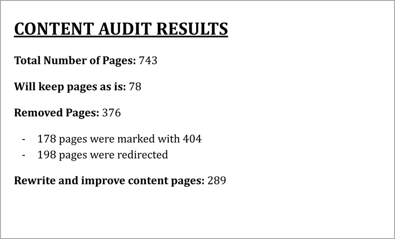 Create a content edit report for content audit