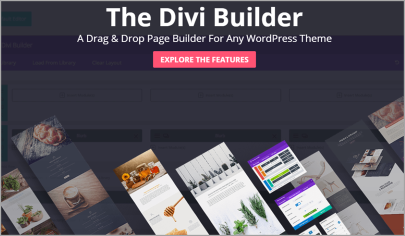 Divi Builder for wordpress plugins