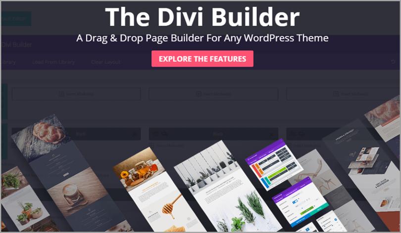 Divi Builder for wordpress plugins