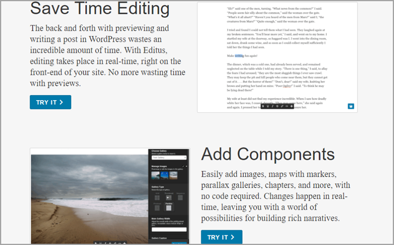 Editus for wordpress plugins