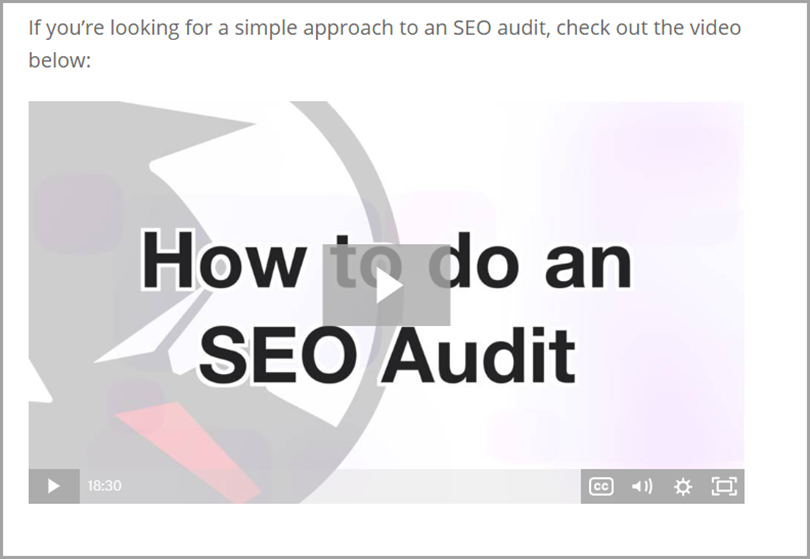 How to do an SEO Audit for content marketing studies