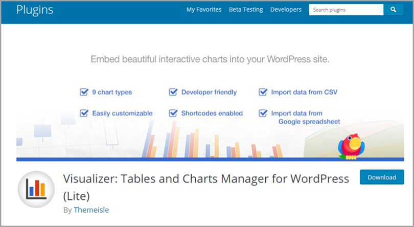 Visualizer for wordpress plugins