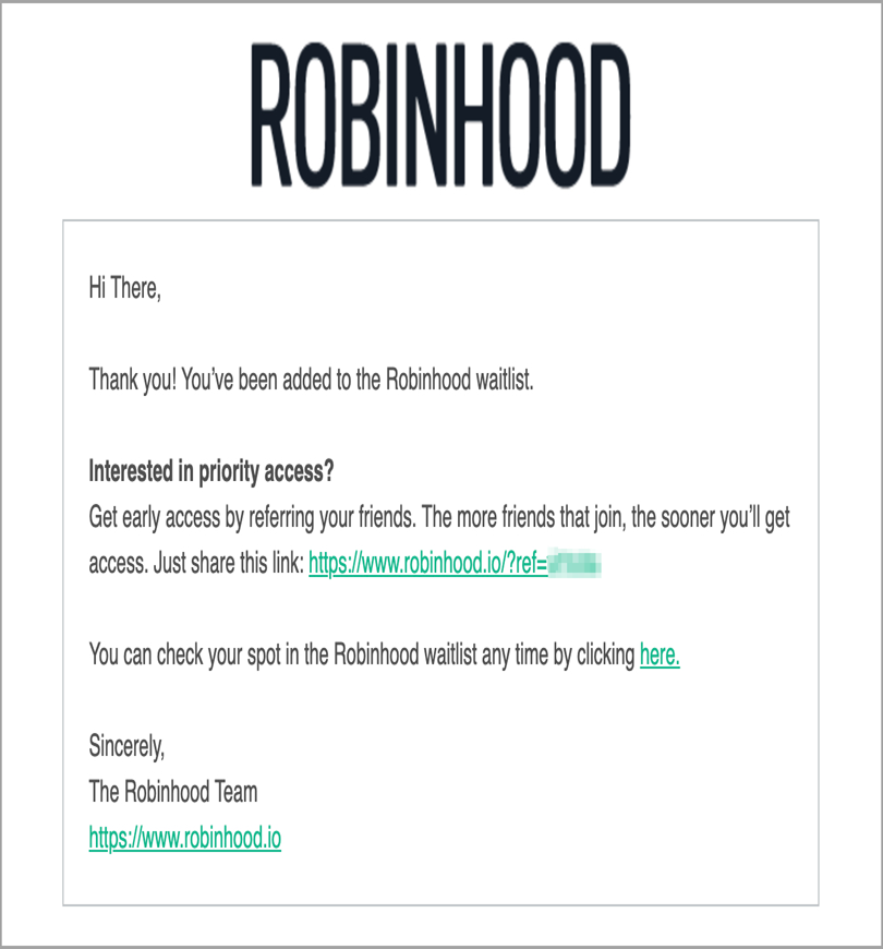 Robinhood for viral marketing techniques