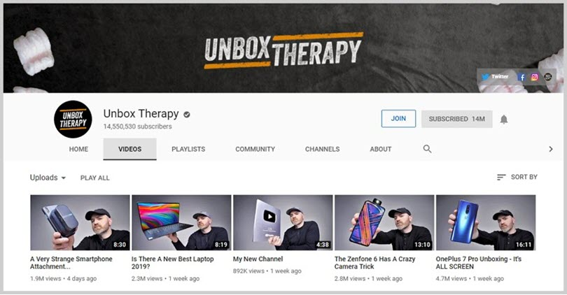 Unbox Therapy for influencer marketing tactics