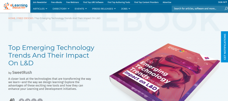 eLearning Industry: ebook example