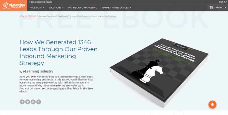 How We Generated 1346 Leads Through Our Proven Inbound Marketing Strategy by eLearning Industry