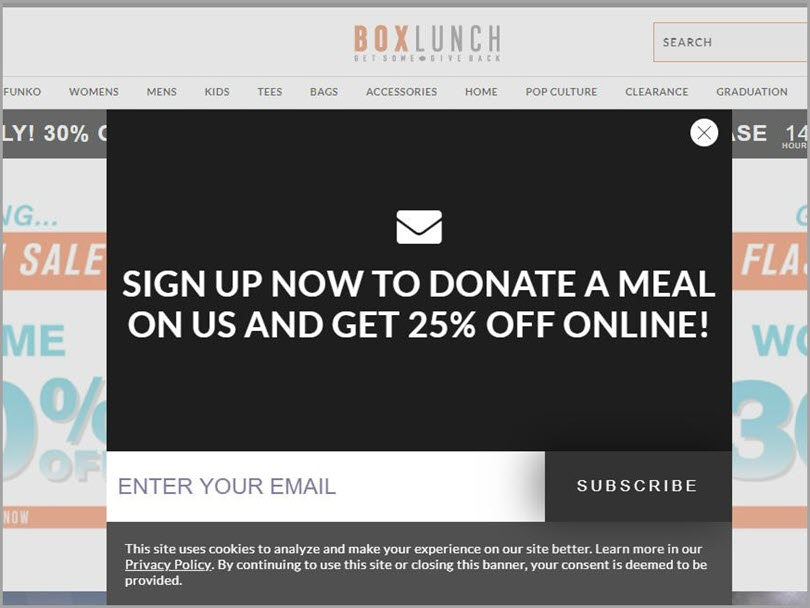 Box Lunch donates to organizations for local marketing