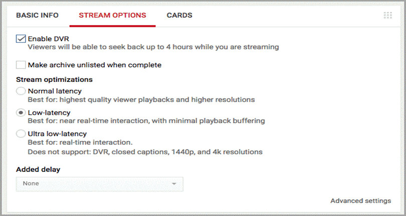 Review your stream option for youtube marketing trends