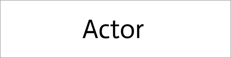Actor for fonts in website design