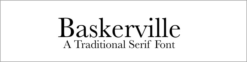 Baskerville Traditional Serif Font for fonts in website design