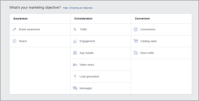 Facebook Ads Types of Campaigns for more conversions