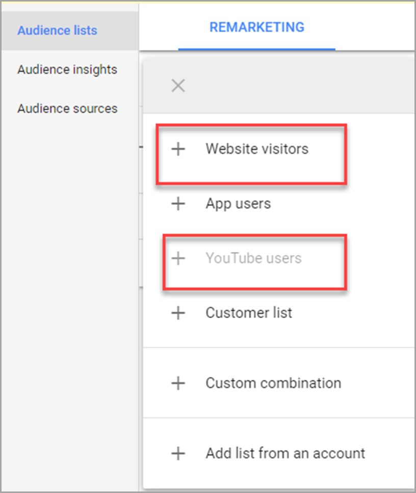Facebook Remarketing Section for more conversions