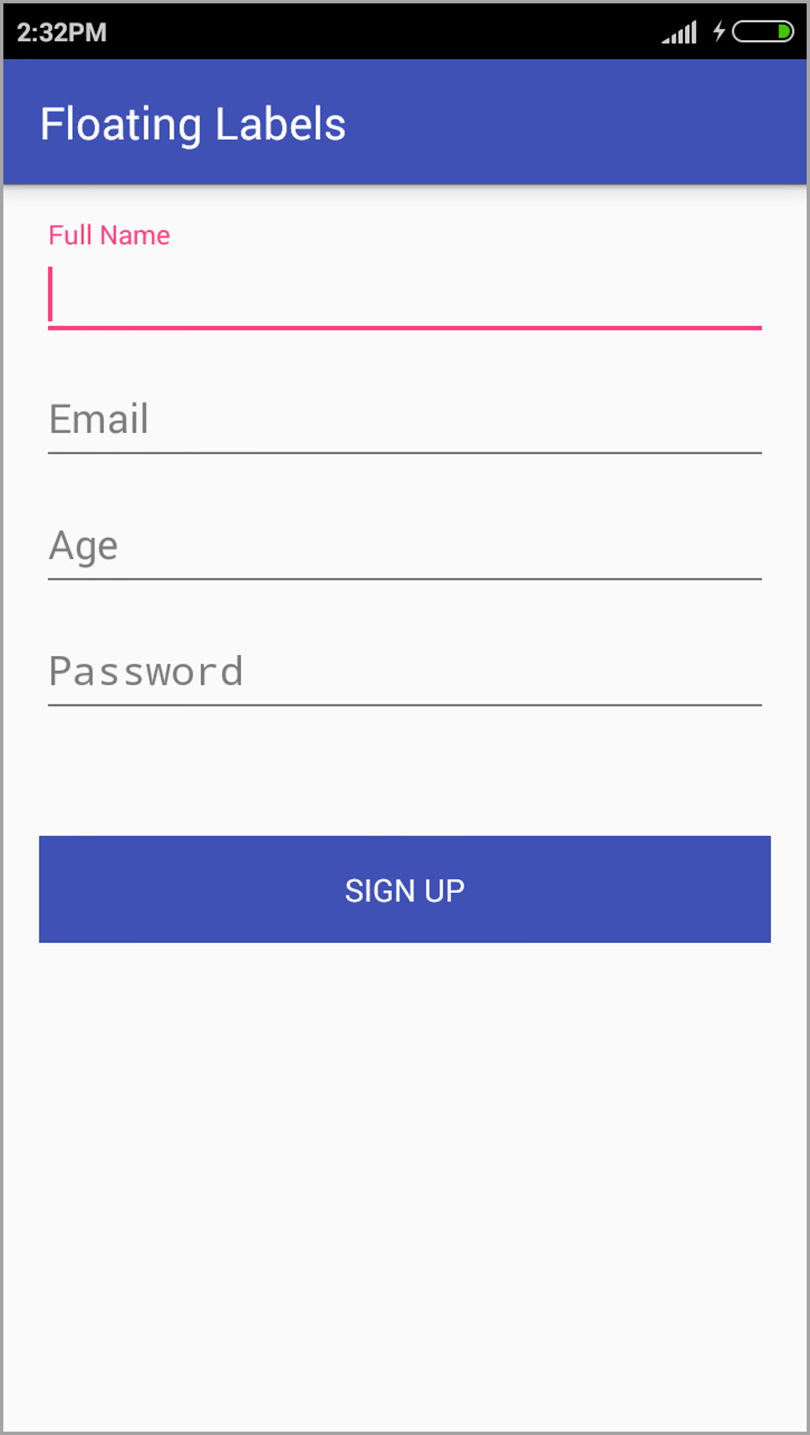 Floating Labels for mobile forms