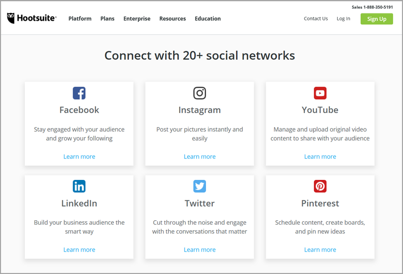 Hoosuite Social Networks for social media management app