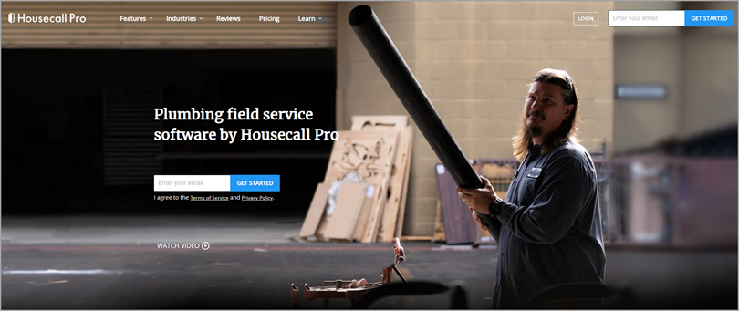 Use Drive Visits Back to your Landing Page like Housecall Pro does for more conversions