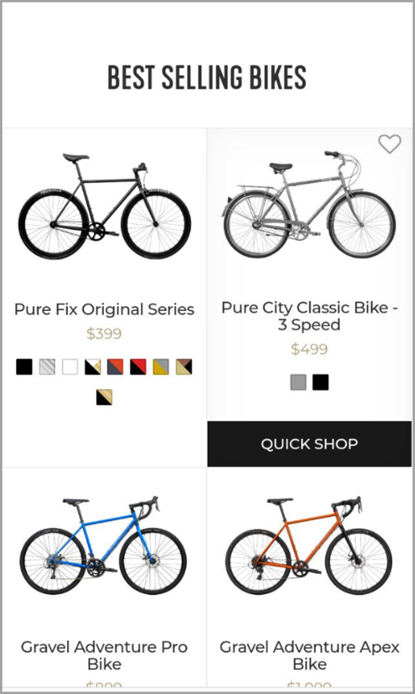 Best Selling Bikes for shopify tips