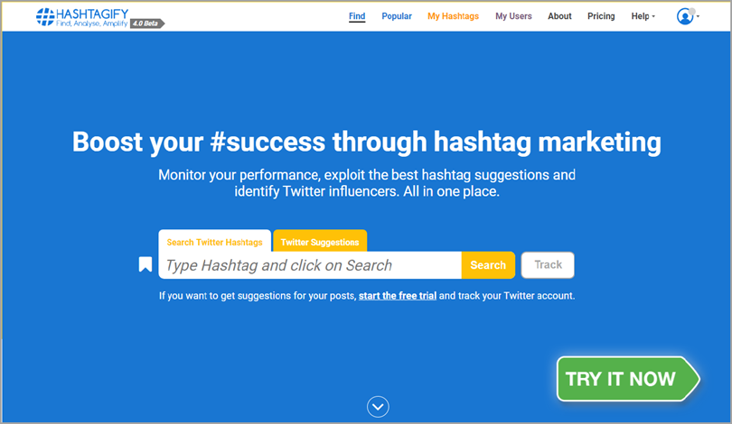 Hashtagify for hashtag tracking tools