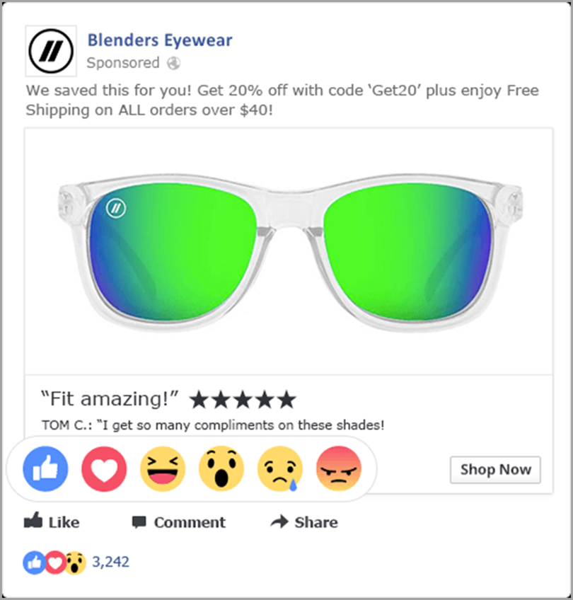 Blenders Eye wear user generated content for content formats