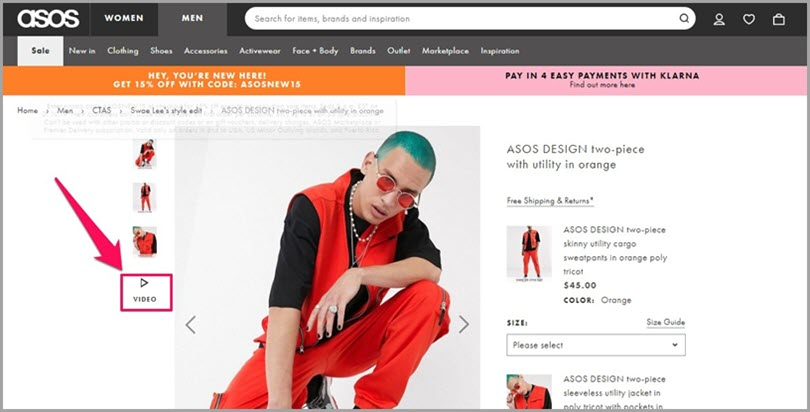 Use Short Video on All Products like ASOS for retail marketing