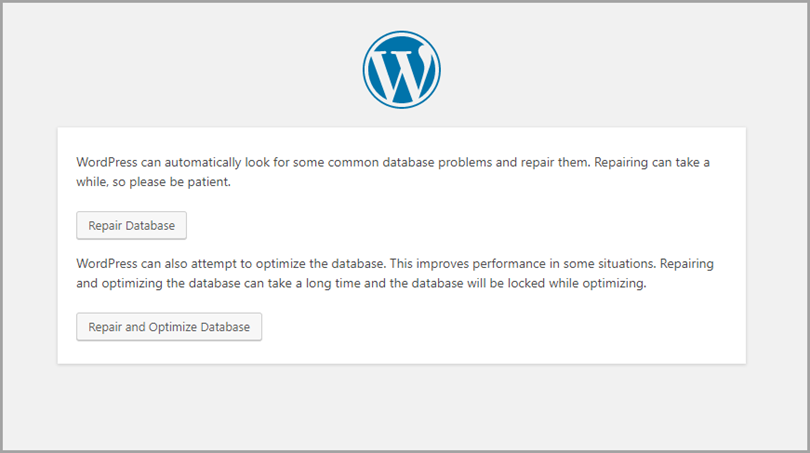 Wordpress Maintenance Page for wordpress errors