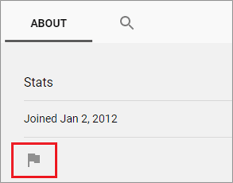 Click the Flag Button to block trolls in Youtube for social media trolls