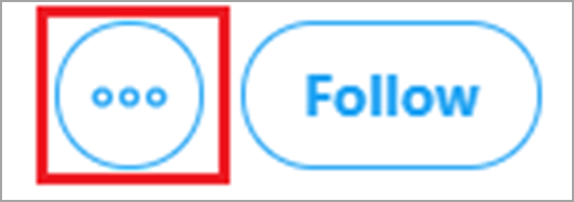 Click the twitter 3 dot drop-down menu for social media trolls