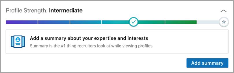 LinkedIn Profile for customer loyalty gamification