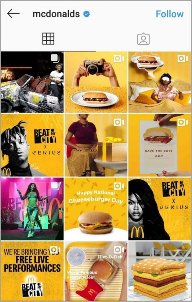 McDonalds for visual content marketing